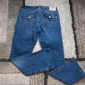 True Religion straight leg jeans size 29p